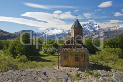 Church of Estancia Cristina in Los Glaciares National Park