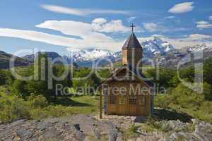 Church of Estancia Cristina in Los Glaciares National Park