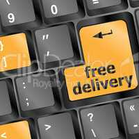 free delivery key on laptop keyboard