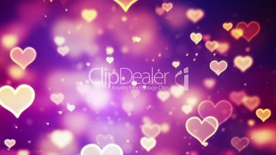 shining hearts bokeh loopable romantic background