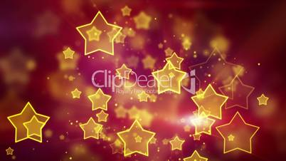 orange star shape lights seamless loop background