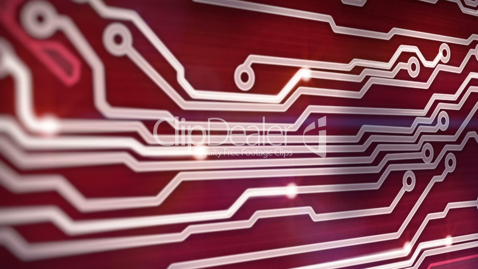 Red Circuit Board Providing Signals 3d Animation Royalty Free Video Computer With Binary Code Closeup Digital Compostie