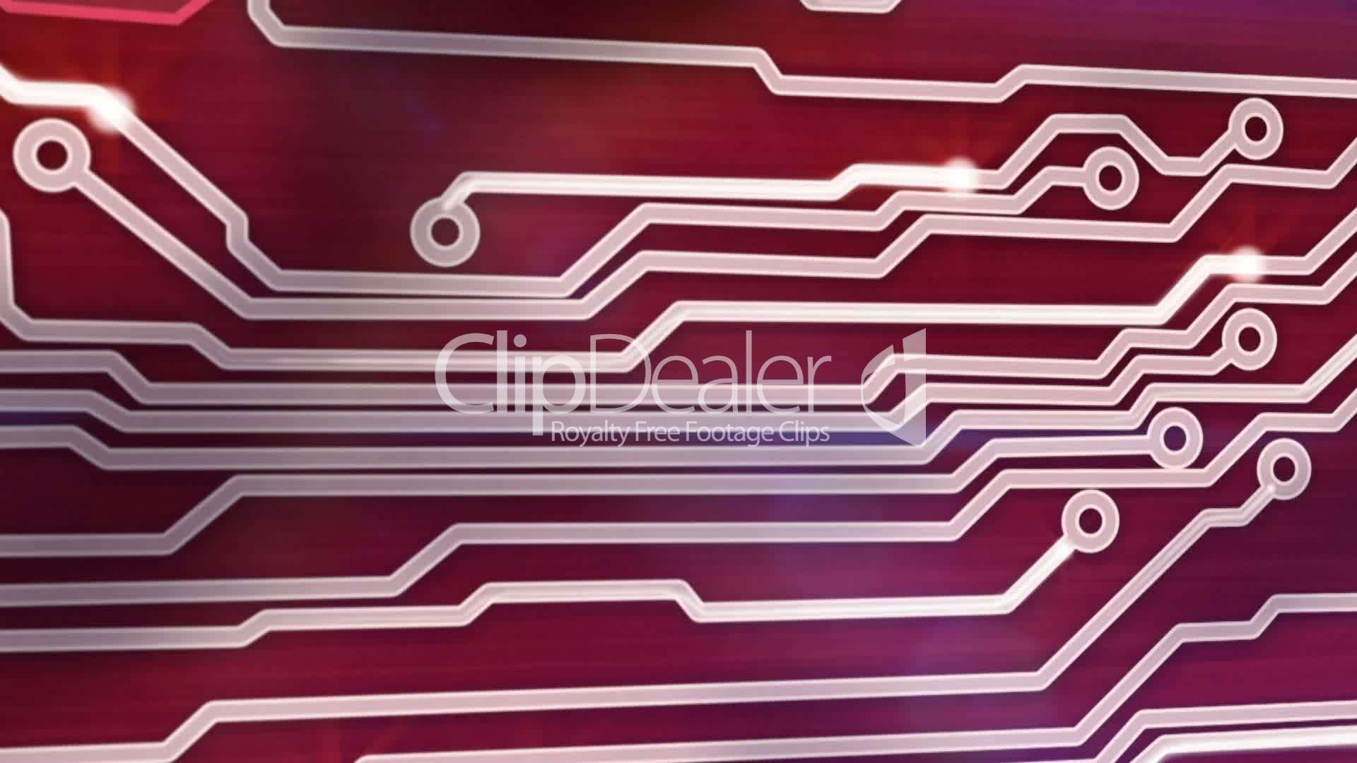 Red Circuit Board Providing Signals 3d Animation Royalty Free Video Image Of Background From Close Up Videos