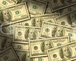 $100 bills laying flat
