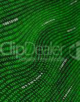 A distorted field of binary code