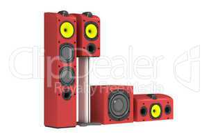 Colourful speakers 3D