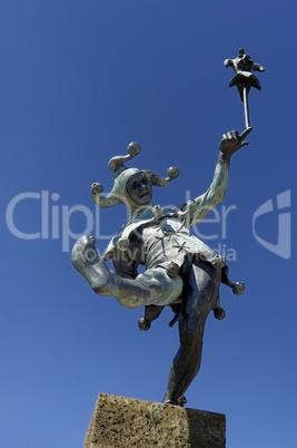 Fool Sculpture on Henley Street, St