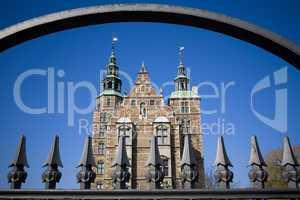Rosenborg castle behind the gate