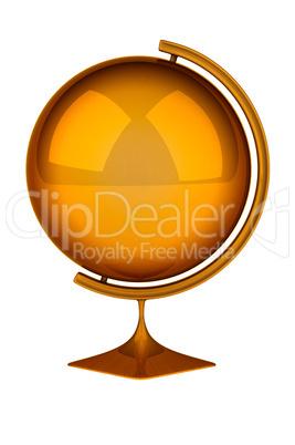 Empty golden globe