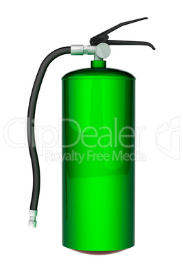 Green Fire extinguisher