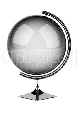 Empty silver globe