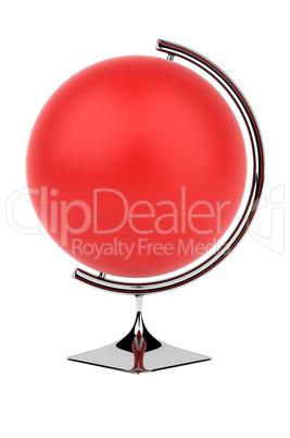 Empty red globe