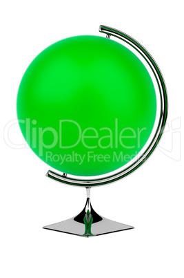 Empty green globe