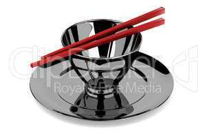 Bowl and chopsticks