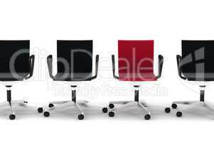 Row of office chairs