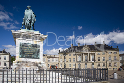 The Royal Palace Amalienborg in Cop
