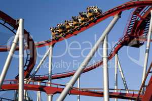 Modern roller coaster in Tivoli Cop