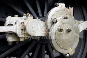 Mechanical detail of an old steam l