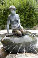 The very little mermaid in sculptur