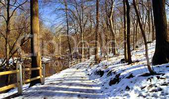 Hiking Path with Snow
