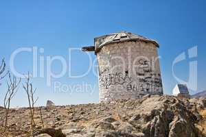 Old windmills in Bodrum and Gumbet,
