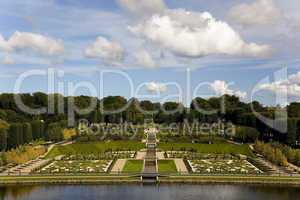 View to the baroque style garden at