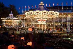 Halloween dressed up Tivoli Garden