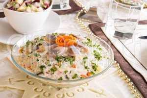 vegetables -  herring salad