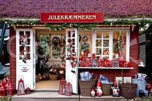 Christmas decoration stall in Tivol