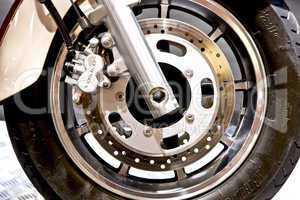 Motor bike front wheel