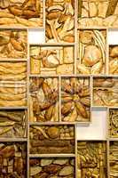 Bread art on the wall