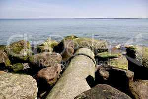 Sewer pipe ending in the sea