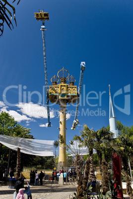 The Vertigo attraction in Tivoli