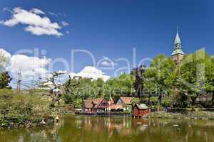 The lake in Tivoli Copenhagen