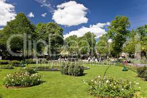Green area in Tivoli Copenhagen