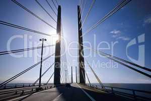 The pylons on the Oresund Bridge