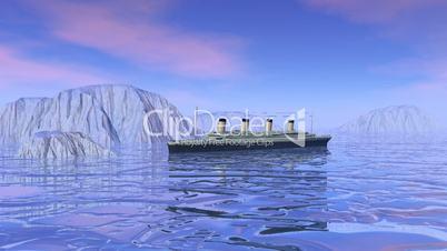 Famous boat sinking - 3D render