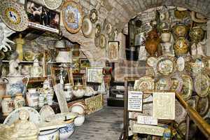 Souvenir shop in Gubbio, Umbria, Italy