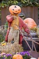 Halloween scarecrow in Tivoli Copenhagen
