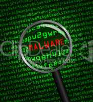 Magnifying glass locating malware i