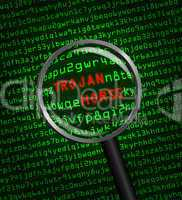 Magnifying glass finds trojan horse