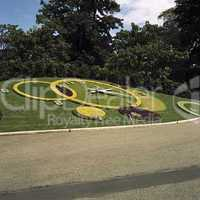 Flowers clock in Jardin Anglais Gen