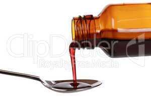 Flüssige Medizin in einer Flasche