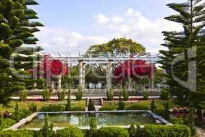Pergolen - Sunken Garden at Spanish Point Museum, Opsrey, Florida