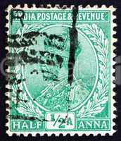 postage stamp india 1934 george v, emperor of india
