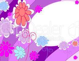 Stylish, beautiful background with flowers and place for text