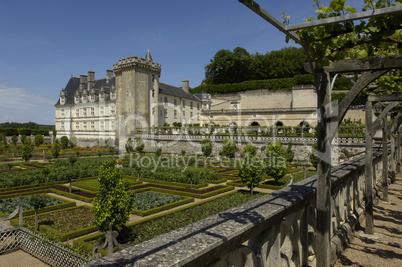 France, the renaissance castle of Villandry