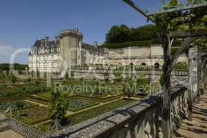 France, the renaissance castle of Villandry