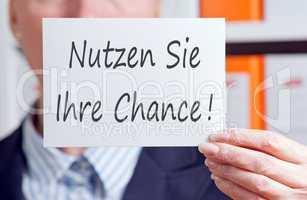 Nutzen Sie Ihre Chance !