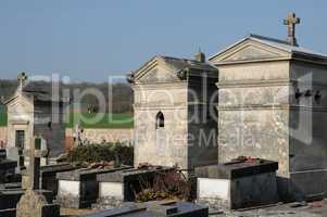 the cemetery of Sagy in Val d Oise